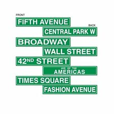 Pack of 4 Double Sided New York Style Street Signs - 10 x 61 cm Party decoration