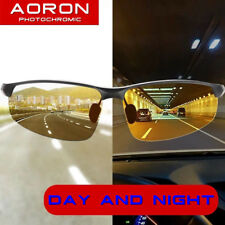 Men's Polarized Photochromic Sunglasses Day Night UV400 Driving Transition Lens