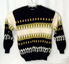 Vintage United Colors of Benetton Italy Cotton Sweater Navy Geometric Unisex