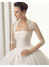 Tulle White/Ivory Bridal Jacket 3/4 Sleeve Lace Edge Wedding Bolero/Wrap/Shrug