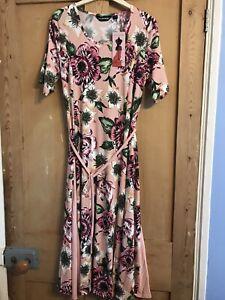 Ladies Nina Leonard Poppy Print Dress Size Medium