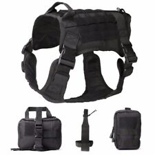 Dog Tactical Modular Harness Working Cannie Hunting Molle Vest With Pouches Bag