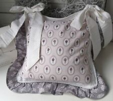Stuhlkissenbezug SAVON Lavendel Grau 40x40 Shabby Vintage Brocante Landhaus