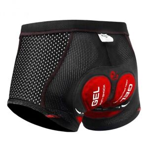 Cycling Underwear Shorts 5D Gel Pad Mesh Shockproof Cycle Underpant Bicycle Bike