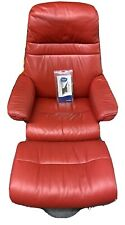 New listing Ekornes Stressless red leather recliner & foot stool.Local Pick Up! Southern Co