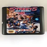 Streets Of Rage 2 16 bit MD Game Card Sega Mega Drive Genesis video games