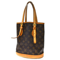 Auth LOUIS VUITTON BUCKET PM  Shoulder Bag Monogram Leather Brown M42238 34BQ435
