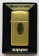 Vintage Petrol Zippo Lighter Slim Polished Brass 1992 VIII June F