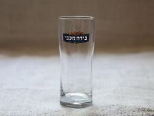 MACCABEE Israel Israeli Beer 0.3L/10.14oz Clear Glass NEW