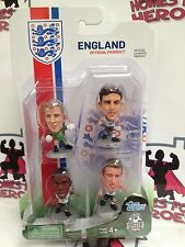 SOCCERSTARZ ENGLAND HART LALLANA STURRIDGE JONES SILVER BASE 4PK BLISTER PACK
