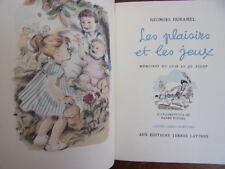 LES PLAISIRS ET LES JEUX Georges Duhamel Ex numéroté + emboitage