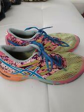 ASICS Gel Noosa Tri 9 Womens Neon Rainbow Running Triathlon Shoes Size 8