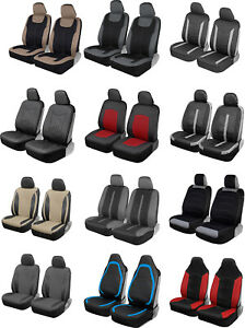 Motor Trend Front Seat Covers for Car Truck Van SUV with Universal Fit Design
