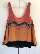 Rusty Rayon Sleeveless Tops for Women
