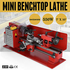 7 x 12 In Precision Mini Benchtop Lathe Metal Variable-Speed High Quality