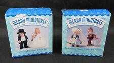 Lot 2 Hallmark Merry Miniatures Figurine Mme Alexander Wendy Alex & Bride Groom