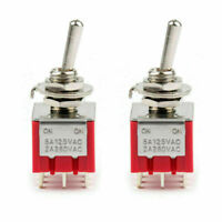 6mm MTS-302 Toggle Schalter 9 Pin 2 Position SPDT 5A//125VAC 2A//250VAC ON//ON BE