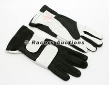 New SFI Double Layer Auto Racing Gloves Black Size Medium Dirt Drag NHRA