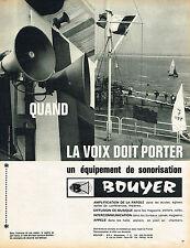 PUBLICITE ADVERTISING 084  1964  BOUYER  sonorisation  équipement