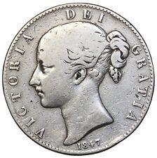 Great Britain 1847 Silver Crown KM#741 Queen Victoria British Coin