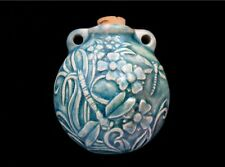Dragonfly Raku Ceramic Pendant Aromatherapy Essential Oil Bottle Jewelry Supply