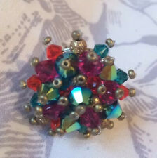 Yellow And Blue Cluster Ring