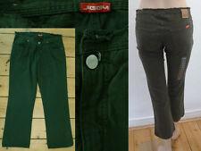 Jiggy Jeans Girl 3/4 jambe Capri 5 pocket straight leg Dark Green denim 27 NEUF
