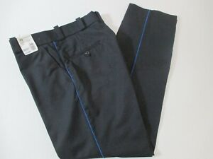 NEW HORACE SMALL MEN'S BLACK W/ BLUE SIDE STRIPE UNIFORM PANTS W36 L35 MEXICO