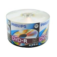 600 ct PHILIPS 16X Blank DVD-R DVDR Disc 4.7GB Video Wholesale Bulk Lot