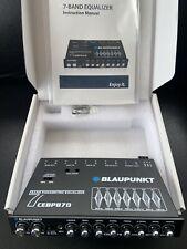 BLAUPUNKT CAR AUDIO CEBP870 7 Band Equalizer Preamp 7 Volt Out Sub Control Aux