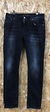 Nudie Jeans Co Men's Dark Blue Thin Finn Skinny Jeans W32 L31 (XJ B163)