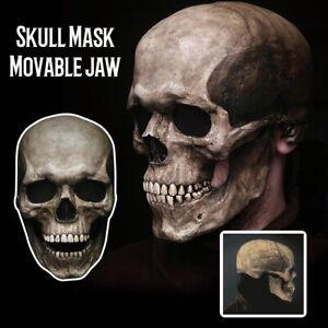 Movable Jaw Full Head Skull Mask Halloween Decoration Horror Helmet Mask Lot.