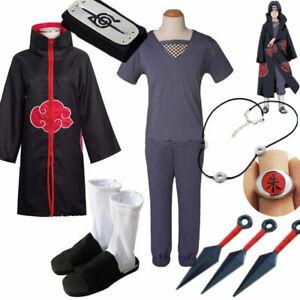 Naruto Uchiha Itachi Cosplay Costume Akatsuki Cloak
