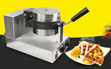 Commercial Non Stick Plates Waffle Maker Lattice Thicken  Stainless Steel 1300W