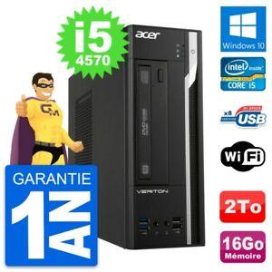 PC Acer Veriton X2632G SFF Intel i5-4570 RAM 16Go Disque Dur 2To Windows 10 Wifi