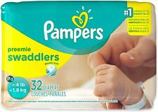 Pampers Swaddlers Diapers, Size Premie XS P-2 32/pack