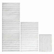 mDesign Microfiber Polyester Bathroom Spa Mat Rugs/Runner, Set of 3 - White