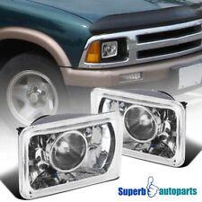 4X6 Projector Seal LED Beam Headlights Head Lamps Pair w/H4 Bulbs