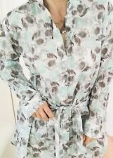 HELENA CHRISTENSEN WOMENS DRESS FLORAL PRINT BUTTONS COTTON NEW SZ M/ L
