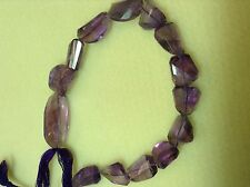 """AMETHYST FACETED IRREGULAR NUGGETS 12X18- 14X20MM  (11"""" LONG)"""