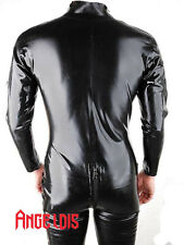 100% Handmade Latex Rubber Catsuit shoulder entry crotch zip latex suit #01005