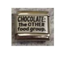 9mm Classic Size Italian Charms L31 Charm Chocolate The OTHER food group