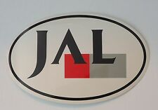JAL - Japan Airlines  Oval Sticker Baggage Label 1980's?  -  peel off backing
