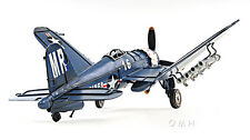 "Chance Vought F4U Corsair Metal Desk Model 13"" WWII Aircraft Airplane Decor New"
