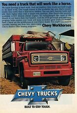 1978 Chevrolet Chevy Farm Workhorse Work Truck Print Ad