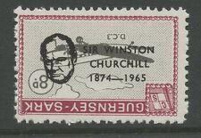 Guernsey SARK 1966 Churchill 8d INVERTED Ovpt error