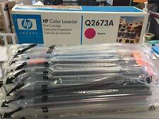 HP Q2673A (309A) Magenta Toner Cartridge Damaged Box Toner STILL  factory Sealed