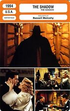 Fiche Cinéma. Movie Card. The shadow (USA) 1994 Russell Mulcahy