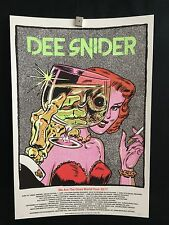 Dee Snider 2017 We Are The Ones Silkscreen Tour Poster Limited Edition Signed