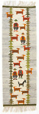 More details for mountain pastures vintage polish folk art textile wall hanging new old stock